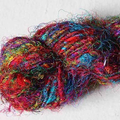 fil-soie-de-sari-multicolore