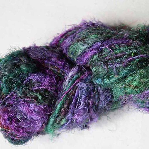 fil-soie-de-sari-violet-vert-bleu
