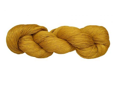 Écheveau de fil de lin jaune d'or