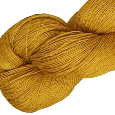 Fil de lin jaune d'or pour le crochet et le tricot