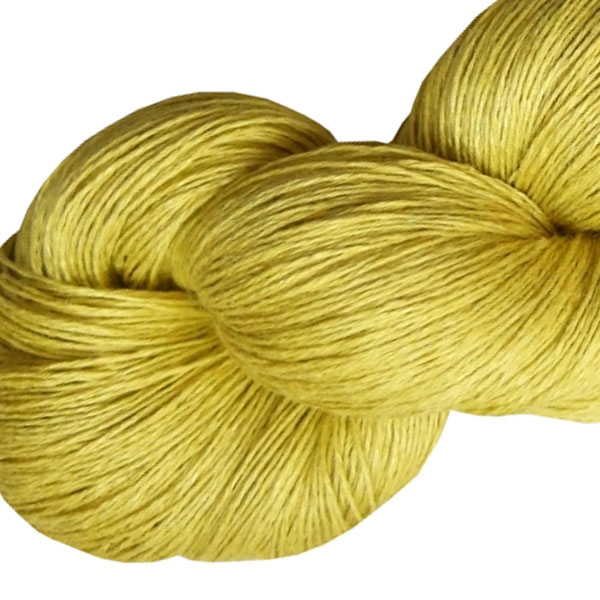 Fil de lin jaune mimosa pour le tricot et le crochet