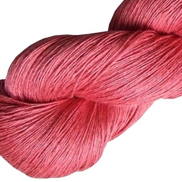 Fil de lin rose incarnat pour le crochet et le tricot