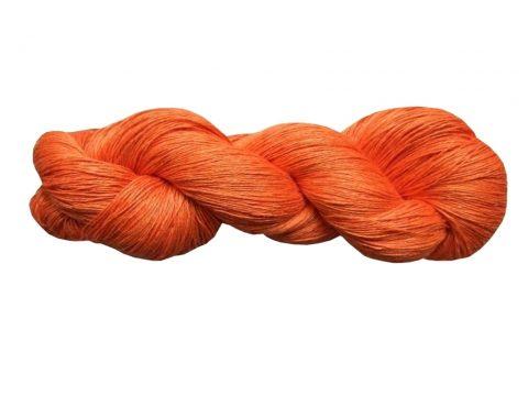 Écheveau de fil de lin mandarine