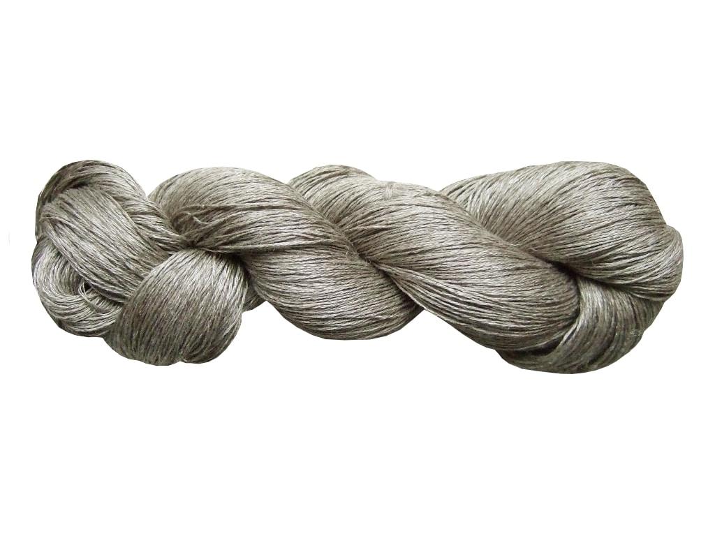 Écheveau de fil de lin gris acier