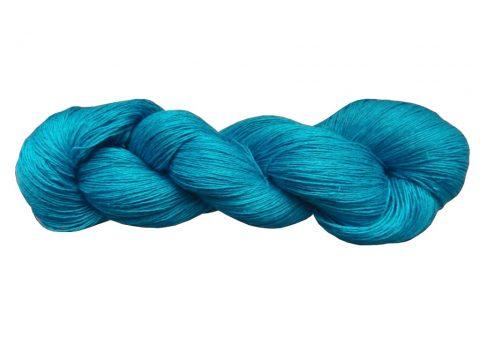Écheveau de fil de lin bleu électrique