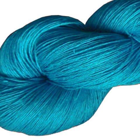 Fil de lin bleu électrique pour le crochet et le tricot
