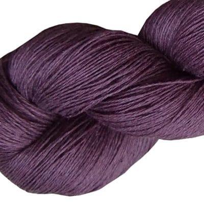 Fil de lin byzantium pour crocheter et tricoter
