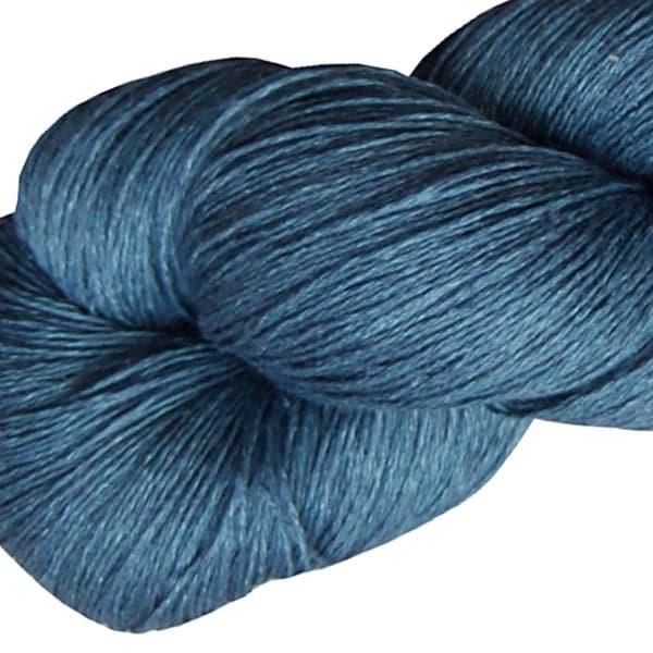 Fil de lin bleu horizon pour le tricot et le crochet