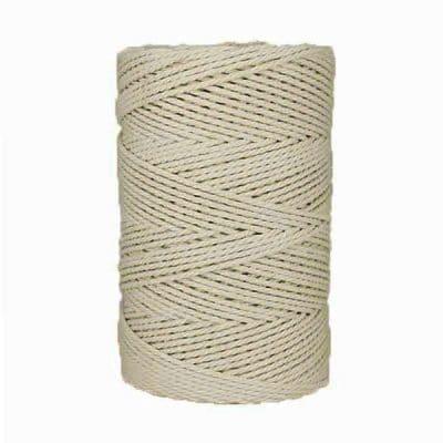 Macramé - corde - ficelle - coton- Blanc - naturel - 3mm