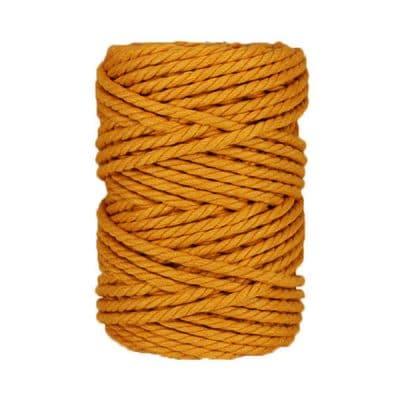 Macramé - corde - ficelle - coton- cordon - fil 7mm - Jaune safran