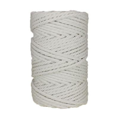 Macramé - corde - ficelle - coton- Blanc - suspension - 5mm