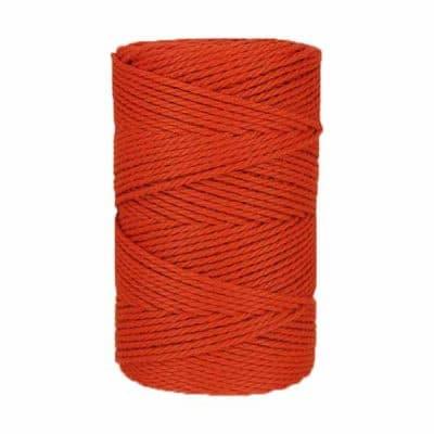 Macramé - corde - ficelle - coton - Fil - orange brulée - 3mm