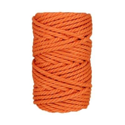 Macramé - corde - ficelle - coton - abricot - 7mm