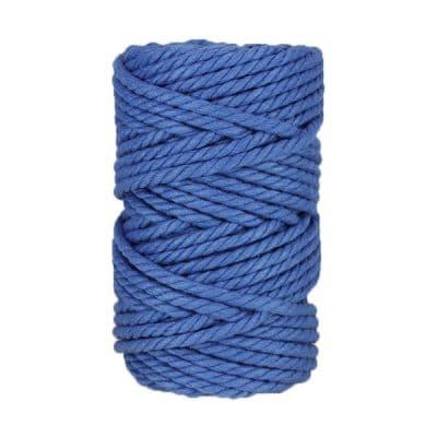 Macramé - corde - ficelle - coton - bleu azur - fil - 7mm