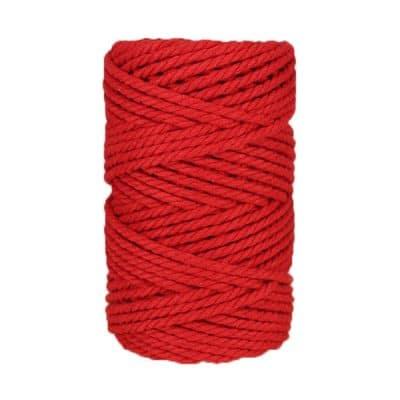 Macramé - corde - ficelle - coton - coquelicot - 5mm