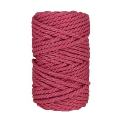 Macramé - corde - ficelle - coton - framboise - fil - 7mm