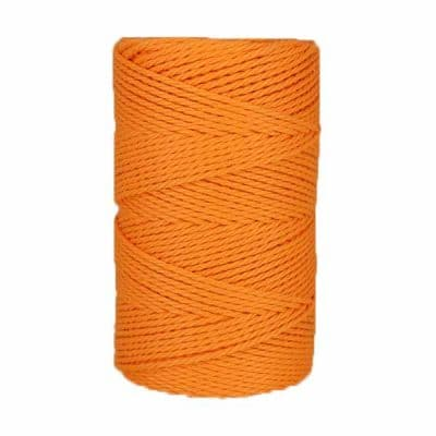 Macramé - corde - ficelle - coton- mandarine - Fil 3mm