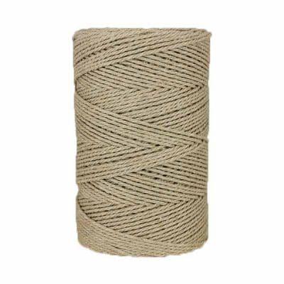 Macramé - corde - ficelle - coton- marron - Fil - 3mm