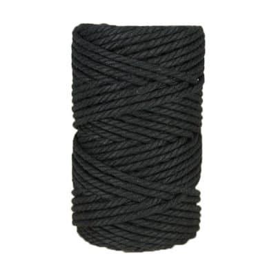 Macramé - corde - ficelle - coton- noir Fil - 5mm