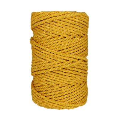 Macramé - corde - ficelle - coton- safran - 5mm