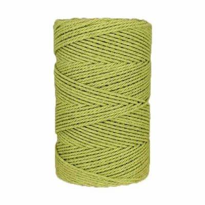 Macramé - corde - ficelle - coton- vert - Fil - 3mm
