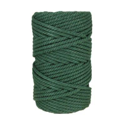 Macramé - corde - ficelle - coton- vert mélèse - Fil 5mm