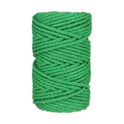 Macramé - corde - ficelle - coton- vert pomme - 5mm
