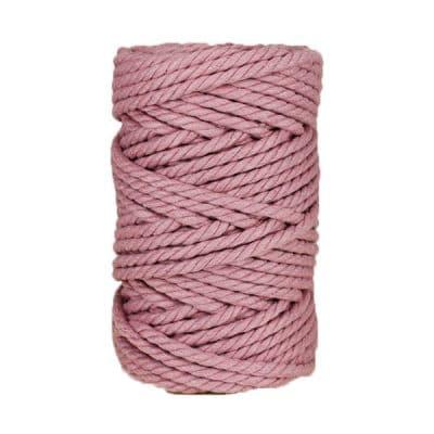 Macramé - corde - ficelle - coton - violet - 7mm