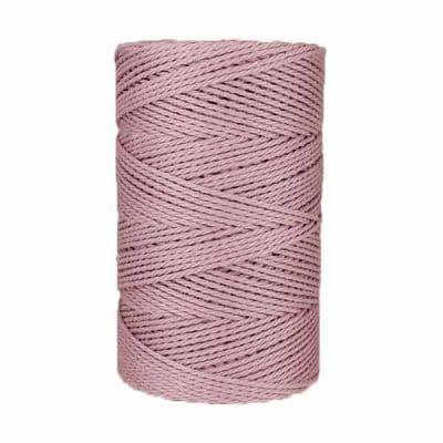 Macramé - corde - ficelle - coton- violet - fil - 3mm