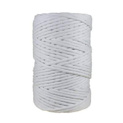 Cordon - corde - coton peigné- fil de 4mm - blanc - macramé - crochet - tricot - tissage