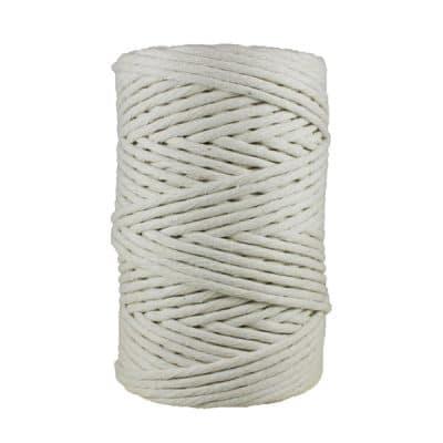 Cordon - corde - coton peigné- fil de 4mm - naturel - blanc cassé - macramé - crochet - tricot - tissage