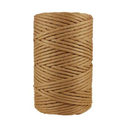 Cordon - corde - coton peigné- fil de 4mm - marron - macramé - crochet - tricot - tissage
