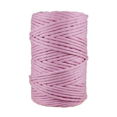 Cordon - corde - coton peigné- fil de 4mm - rose - macramé - crochet - tricot - tissage