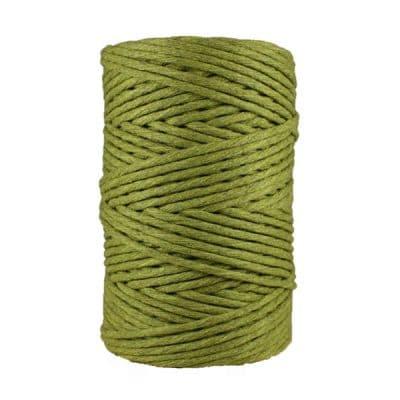 Cordon - corde - coton peigné- fil de 4mm - vert- macramé - crochet - tricot - tissage