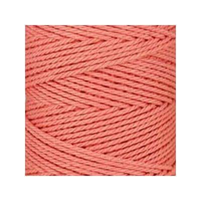 Macramé - corde - ficelle - coton- cordon - fil 3mm - rose saumon - vendu au mètre