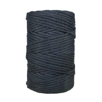 Cordon - corde - coton peigné- fil de 4mm - noir - macramé - crochet - tricot - tissage
