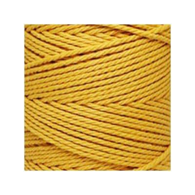 Macramé - corde - ficelle - coton- cordon - fil 3mm - jaune bouton d'or -vendu au mètre