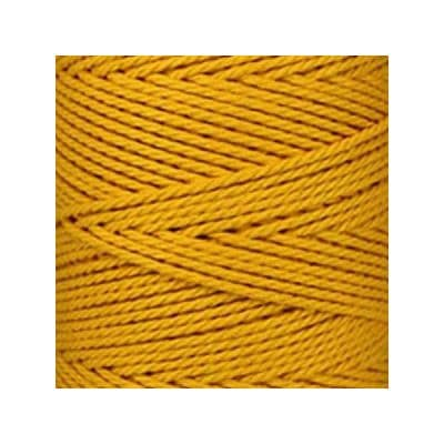 Macramé - corde - ficelle - coton- cordon - fil 3mm - jaune safran - vendu au mètre