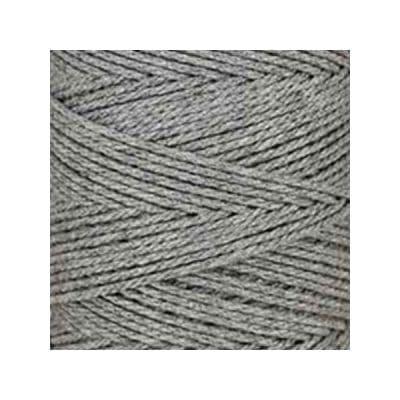 Macramé - corde - ficelle - coton - gris acier - cordon - fil 3mm - vendu au mètre