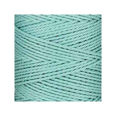 Macramé - corde - ficelle - coton - bleu azurin - cordon - fil 3mm - vendu au mètre
