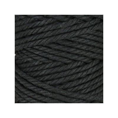 Macramé - corde - ficelle - coton -noir - cordon - fil 5mm - vendu au mètre