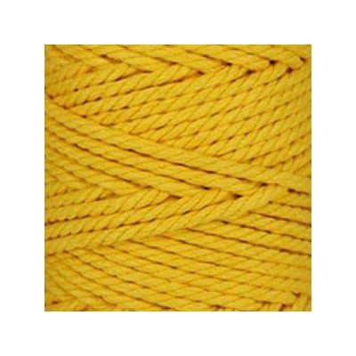 Macramé - corde - ficelle - coton- cordon - fil 5mm - jaune bouton d'or - vendu au mètre