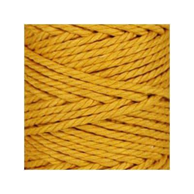 Macramé - corde - ficelle - coton- jaune safran - cordon - fil 5mm - vendu au mètre