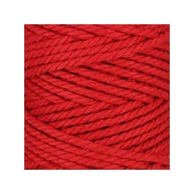 Macramé - corde - ficelle - coton- rouge coquelicot - cordon - fil 5mm - vendu au mètre