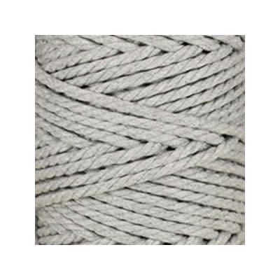 Macramé - corde - ficelle - coton- gris perle - cordon - fil 5mm - vendu au mètre