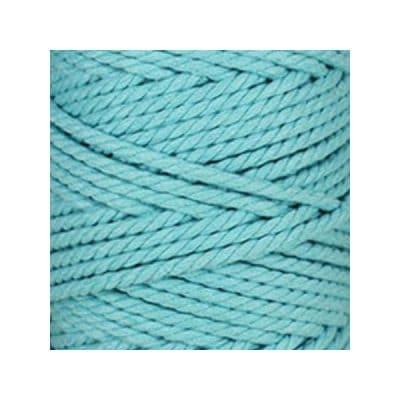 Macramé - corde - ficelle - coton- bleu maya - cordon - fil 5mm - vendu au mètre