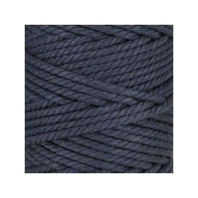Macramé - corde - ficelle - coton- bleu nuit - cordon - fil 5mm - vendu au mètre
