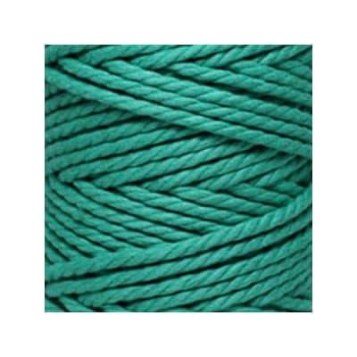Macramé - corde - ficelle - coton- vert émeraude - cordon - fil 5mm - vendu au mètre