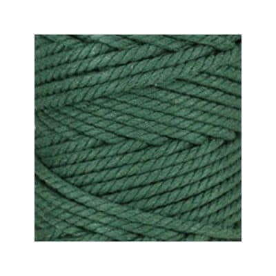 Macramé - corde - ficelle - coton - vert mélèze cordon - fil 5mm - vendu au mètre