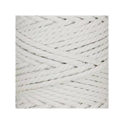 Macramé - corde - ficelle - coton - blanc - cordon - fil 5mm - vendu au mètre